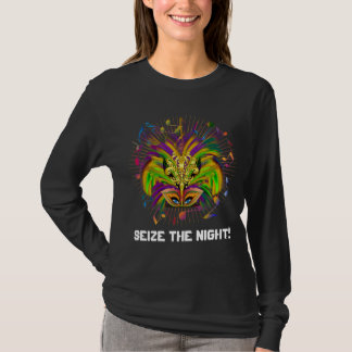 Mardi Gras Queen Style Dark View Notes Plse T-Shirt