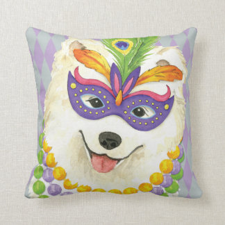 Mardi Gras Samoyed Cushion