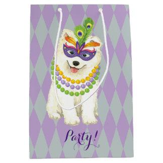 Mardi Gras Samoyed Medium Gift Bag