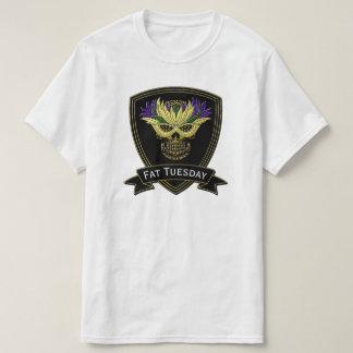 Mardi Gras Sugar Skull & Mask T-Shirt