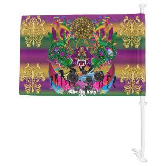 Mardi Gras Who Da King!HOT Read Description Below Car Flag