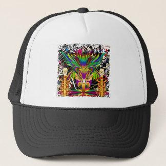Mardi Gras Witch Doctor-Skull V-3-T Trucker Hat