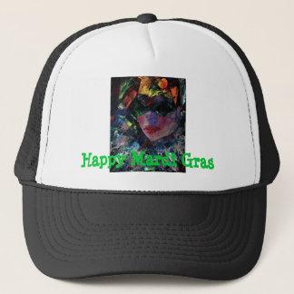 MardiGras harlequin baseball cap