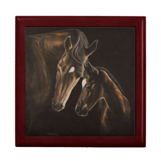 Mare and foal box large square gift box