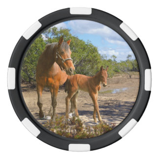 Mare and foal poker chips