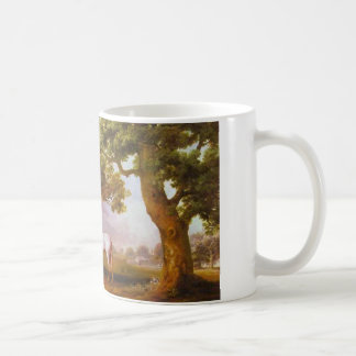 Mares and Foals in a Wooded Landscape by George Coffee Mug