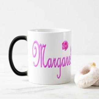 Margaret Name Pink Logo, Magic Mug