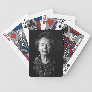 Margaret Thatcher Playing Cards (Black and White)