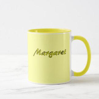 Margaret's yellow coffee mug