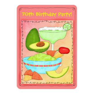 Margarita Guacamole 70th Birthday Party Invitation