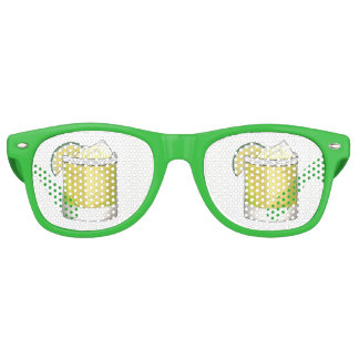 Margarita Summer Cocktail Mixed Drink Lime Green Retro Sunglasses