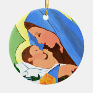 Maria and baby Jesus Christmas Ornament