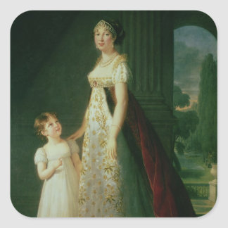 Maria Carolina Bonaparte, Queen of Naples Square Sticker
