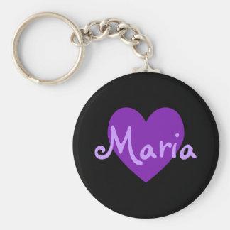 Maria in Purple Key Ring