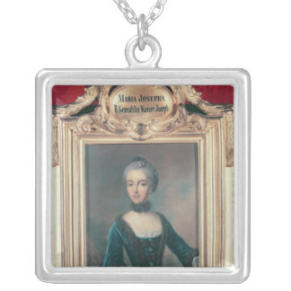 Maria Josepha of Bavaria second wife of Joseph Silver Plated Necklace