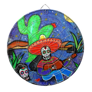 MARIACHI SIESTA DAY OF THE DEAD DARTBOARD