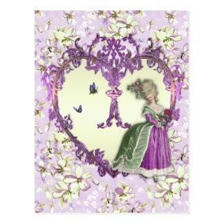 Marie Antoinette Lilac Dreams Purple Floral Print Postcard