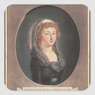 Marie-Therese-Charlotte de France  aged seventeen Square Sticker