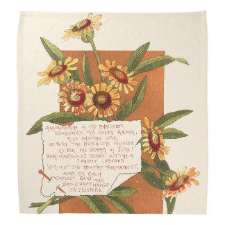 Marigold Flowers Island Floral Poem Bandana