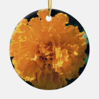 Marigold Round Ceramic Decoration