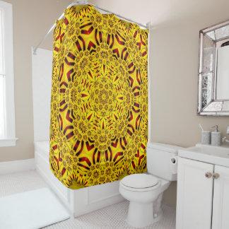 Marigolds Kaleidoscope Shower Curtain