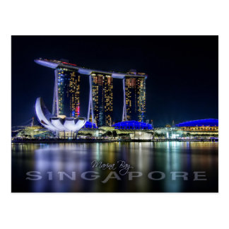 Marina Bay, Singapore at night Postcard