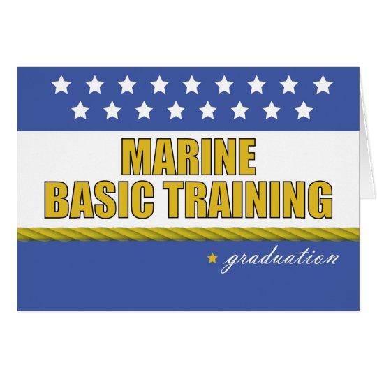 Marine Basic Training Graduation Congratulations Card