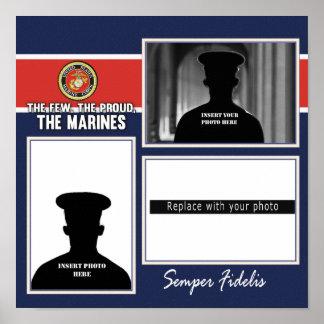 Marine Corps Photo Display Poster
