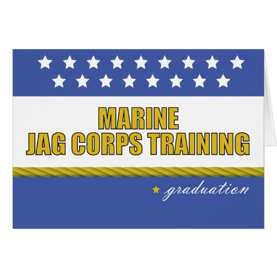 Marine JAG Corps Training Graduation Card