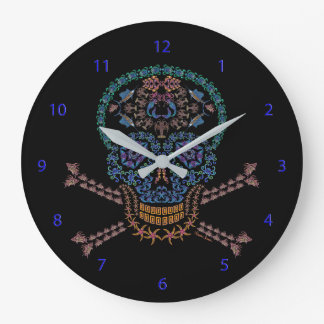 Marine Skull and Crossbones Large Clock