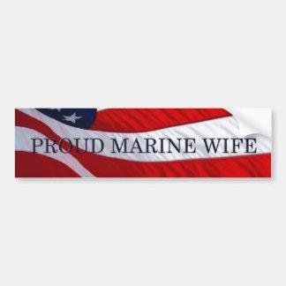 Marine Wife American Flag Bumper Sticker