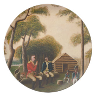 Marion Feasting the British Officer Plate