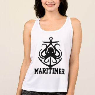 Maritimer Anchor octopus Nautical New Balance Singlet
