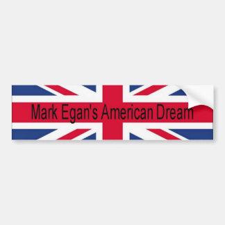 Mark Egan's American Dream flag bumper sticker