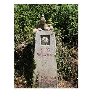 Marker 103 kilometres, El Camino, Spain Postcard