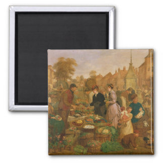 Market Day Square Magnet