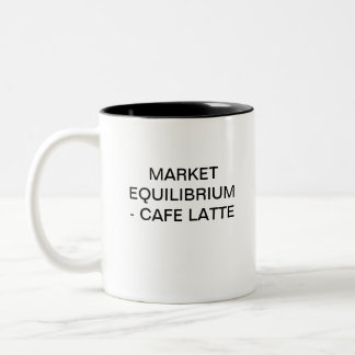 MARKET EQUILIBRIUM - CAFFE LATTE Two-Tone COFFEE MUG
