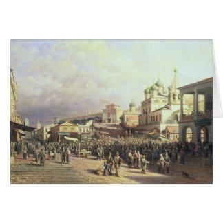 Market in Nishny, Novgorod, 1872 Card