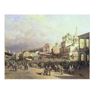 Market in Nishny, Novgorod, 1872 Postcard