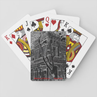 Market of Liniers (Pencil design) Playing Cards