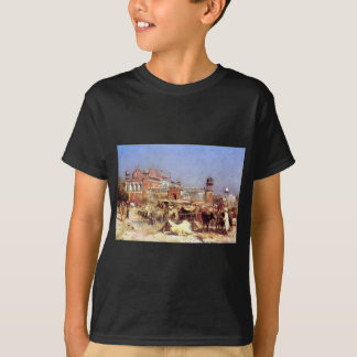 Market Place at Agra by Edwin Lord Weeks T-Shirt