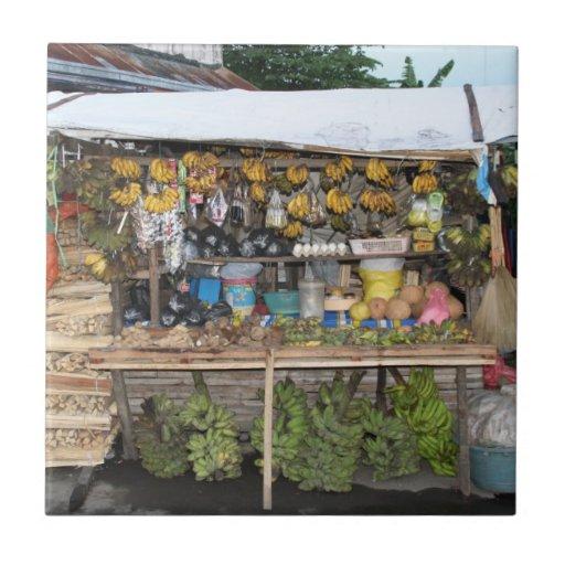 Market stall ceramic tile