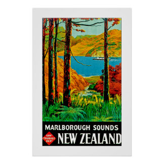 Marlborough Sounds New Zealand Poster