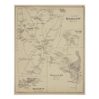 Marlow, Cheshire Co Poster