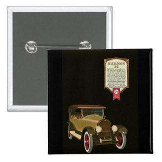 Marmon 34 - Vintage Auto Advertisement 15 Cm Square Badge