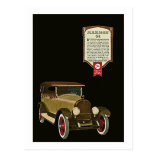 Marmon 34 - Vintage Auto Advertisement Postcard