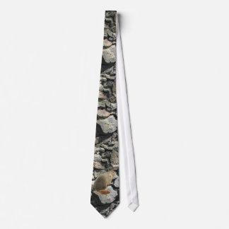 Marmot on the Rocks Tie