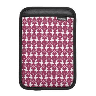 Maroon Ballarinas iPad Mini Sleeve