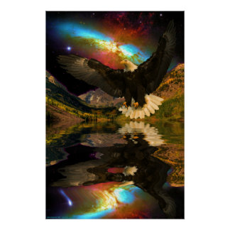 Maroon-Bells-portrait-W-Eagle-1 Posters