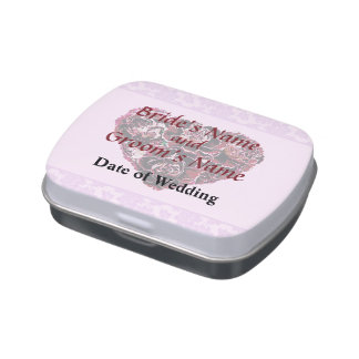Maroon Carnation Heart With Pink Wedding Products Jelly Belly Tins